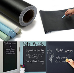 Wholesale Stickers For Room Decor - 45x200cm Chalk Board Blackboard Stickers Removable Vinyl Draw Decor Mural Decals Art Chalkboard Wall Sticker for Children Kids Rooms