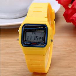 étudiant adolescent Promotion F91W montre de sport pour femmes hommes adolescents montres montre-bracelet en plastique montres-bracelet étudiants sport montres cadeau d'anniversaire