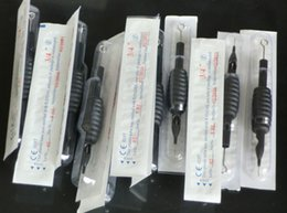 "Wholesale Disposable Tips 5rl - 20Pcs 19mm Disposable Tattoo Tube Grips With Needles 5RL with Tubes Tips & 3 4"" Disposable Grips"