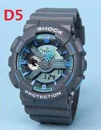 Wholesale D5 Led - Popular Mens Summer G Sports GA110 Watches LED Waterproof Climbing Digital S Shock Men 100 Watch All Pointer Work Original Box D5