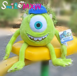 Wholesale Mike Plush - 38cm Mike Monsters University Monster Mike Wazowski Plush Toys Monsters Inc plush Toys For Best Gift
