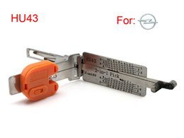 Wholesale Hu43 Pick - New prodcut locksmith tools smart Smart HU43 2 in 1 auto pick and decoder