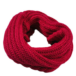 Wholesale Men Luck Ring - Wholesale-Luck Dog Knitted Circle Wool Scarf Shawl Wrap Winter Warm Collar