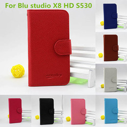 Wholesale Hd Slots - For ZTE Avid Trio metropcs For BLU Studio 5.5 HD S150L PU leather wallet pouch cover case with credit card slots