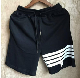 Wholesale Punk L - Wholesale-New TB Punk Men's Short Men Summer Beach Jogger Classic Striped Shorts Cotton Man Running Shorts Brand-Clothing #258
