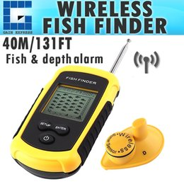 Wholesale Matrix Sounds - FFW-1108-1 Dot Matrix Wireless Sonar Sensor LUCKY Fish Finder Alarm Transducer & Audible Fish Alarm Depth Sounder 40m (131ft)
