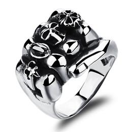 Wholesale Influx Ring - Men's Singles jewelry titanium steel rings jewelry skull fist ring influx men nightclub Rock GJ465