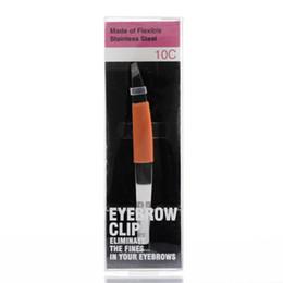 Английский набрав онлайн-Резьбовой зажим из нержавеющей стали для бровей Резиновая прокладка типа ручки для бровей пинцет Инструменты для макияжа Английский Объяснение упаковка