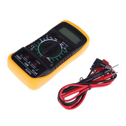 Wholesale Ac Dc Lcd Voltage Tester - 5pcs free shipping to USA LCD Digital Multimeter Handheld Digital Tester AC DC Ohm VOLT Meter Portable voltage DC Ammeter resistance tester