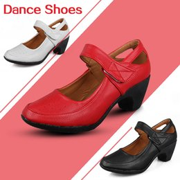 Wholesale Sneaker Dance - 2016Hot in selling  New arriver Fashion dancing girls women square dance shoes ladies 5.5CM-6CM Red white black