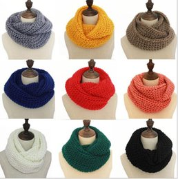 Wholesale Scarf Ring For Men - Men Women Lovers Fall Winter Infinity Wool Knitting Scarfs Set Designer Head Scarf Pure Color Hot Sell Wholesale for Xmas Party Warm Gift