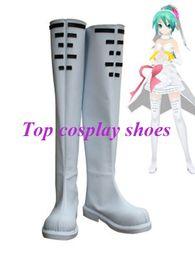 Wholesale White Miku - Wholesale-Freeshipping Vocaloid Hatsune Miku Wedding Dress Cosplay Boots shoes white long Ver #GAI0127