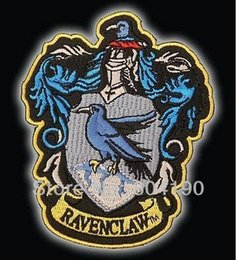 Wholesale Iron Harry Potter Patch - HARRY POTTER RAVENCLAW Large Embroidered Robe Iron On Patch rock retro applique badge wholesale dropship 11.5cm x 9cm