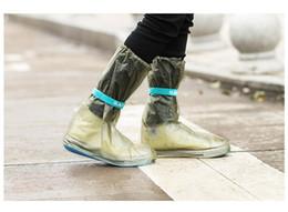 Wholesale Waterproof Long Boots - 100 pair Wholesale Outdoor Long Style Raincoat Set Cycle Rain Boots Overshoes Rainboots Travel Essentials Waterproof Rain Shoes Cover ZA0503