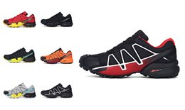Wholesale Speed Laces - Men Athletic Shoes Speed Cross 4 CS Cross-Country Hiking Shoes Mens Running Shoes Non-Slip white black Sports Sneaker Size 40-46