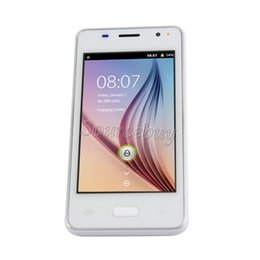 "Wholesale Unlocked Cheap Bar Mobile - Cheap 2G GSM Unlocked H-Moblie V1 4"" Smartphone Android4.4 SC6820 800*480 Dual SIM cameras Touch screen wifi Mobile Cell phone Free shipping"