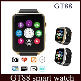 Wholesale Monitor For Cameras - GT88 smart watch Monitor Bluetooth Smartwatch Support SIM Card Heart Rate Waterproof Smartwatches for IOS Android Phones vs u8 DZ09