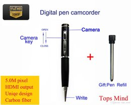 Wholesale Dvr High Quality - 100% New Special Offer free Shipping 1080p High Quality 5.0m Pixel Digital Pen Camcorder Mini Dvr Camera Hidden Hdmi Output Motion Detection