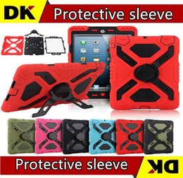 Wholesale Military Cover For Ipad - 10pcs Pepkoo Defender Military Spider Stand Water dirt shock Proof Case Cover Ipad 2 3 4 iPad Air 5 ipad Air2 6 iPad Mini
