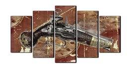 Wholesale Ancient Gun - Fashion Ancient wall Painting Gun Picture print on canvans Decoracion canvas Art For Living Room no framed(No Frame)