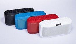 Wholesale Radios Hf - New bluetooth speaker HF-Q8 Mini Portable Bluetooth LED Light Speaker Wireless Super Bass Speakers Support TF Card FM Radio