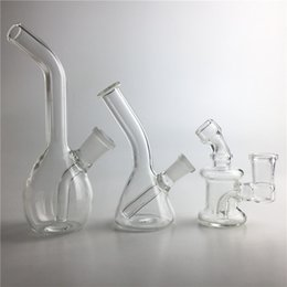 Wholesale New Smoking Pipe - New 10mm 14mm Female Mini Glass Bong Water Pipes Pyrex Oil Rigs Glass Bong Thick Recycler Oil Rig for Smoking