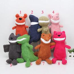 Wholesale Dinosaur Toy Pig - 27cm Animal smile plush doll banquedos pig dog crocodile dinosaur shark fox Stuffed Plush Toys sweet cute Dolls toys baby gifts