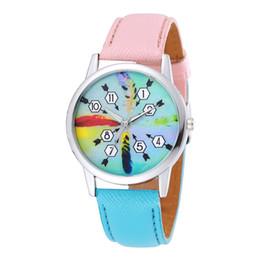 Seta relógios on-line-Estilo mais quente Presente de Natal Azul Rosa Suave Cinto De Couro Seta Relógio Mostrador De Quartzo Relógio de Pulso Casual Para As Mulheres Dos Miúdos