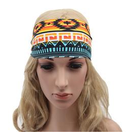Wholesale Woman Yogo - Vintage Running Headband,Fashion Wide Strechy Yogo Headband ,Boho women hair wraps ,Jersey stylish womens headband