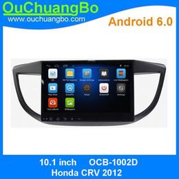 Wholesale Radio Nav - Ouchuangbo Car Audio Gps Nav Stereo radio Android 6.0 for Honda CRV 2012 Support 1024*600 3G Wifi BT USB AUX