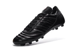 Wholesale Soccer Shoe Copa Mundial - 2016 Men's Copa Mundial FG Soccer Shoes Outdoor Best Quality Leather Athletic Soccer Football Shoes Cheaper Popular Black Soccer Sneakers