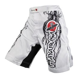 Wholesale Hayabusa Wholesale - Wholesale-mma shorts boxing pants hayabusa muay thai short bad boy mma tiger muay thai brock lesnar kickboxing shorts fight wear mma pants