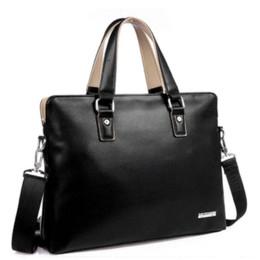 Wholesale Cheap Plastic Cell Phones - Bag Men 2015 Fashion Office Briefcase, Men Leather Handbag Bussiness Bags Notebook Laptop Bag Cheap a4 plastic file folder