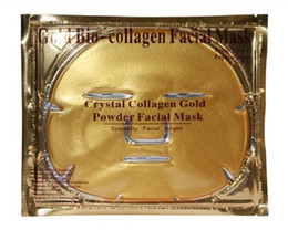 Wholesale Crystal Sheets - 2017 Gold Bio-Collagen Facial Mask face Mask Crystal Gold Powder Collagen Facial Mask Moisturizing Anti-aging Skin Care Face Beauty