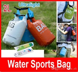 Wholesale Water Drift Bags - Ultralight Outdoor 2L Water Sports Bag Rafting Drifting Waterproof Dry Bag PVC Swimming waterproof bag drift bag Pocket