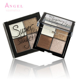 Wholesale Makup Eye Shadow - Wholesale-2016 New Arrive 4 Color Eye shadow Pigments Palette Eye Makup Eye Shadow Super Stage Fit By Sugar box free shipping 11049-S05