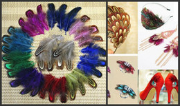 Wholesale Bulk Jewelry For Sale - 200pcs lot 4-8cm colorful mix dyed real natural almond pheasant plumage feathers For DIY Hat Shoes Craft Arts Jewelry Making bulk sale