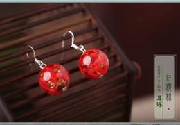 artigos femininos Desconto Estilo coreano restaurar antigas formas adornam artigo vermelho colorido esmalte brincos feminino parágrafo breve brincos acessórios vento nacional