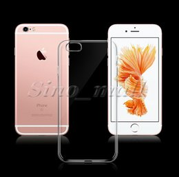 Wholesale I5 5s - Ultra Thin Crystal Clear TPU Soft Case For i5 5s 6 6s plus 7 7 plus Durable and Flexible Back Shell Case Cheapest