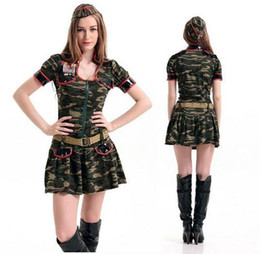 2016 New Adult Womens Sexy Halloween Party Camouflage Police Costumes Outfit Fancy Instructor Cosplay Dresses Size M With Belt  sc 1 st  DHgate.com & Shop Sexy Police Halloween Costumes UK | Sexy Police Halloween ...