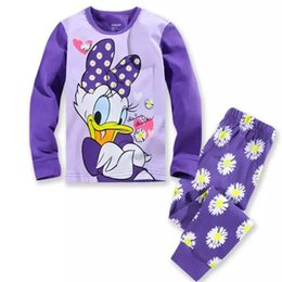 Wholesale Free Clothes For Cheap - Cotton Pajamas Children long sleeves kids sets clothes for girl baby underwear cartoon sleep pants cheap and free delivery