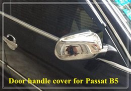 Wholesale Passat B5 Chrome - Free shipping! High quality ABS chrome 2pcs car door mirror decoration protection cover for Passat B5