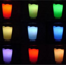 Milk Cup Lights Lighting Led Night Light Glass Shape Cordless Lamp Novelty Home Decor Lights Chrismas