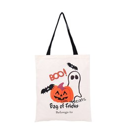 Wholesale Halloween Party Treats - 36*48Cm Halloween Gifts Bag Candy Bag Black Portable Bag Halloween Party Kids Trick Or Treat Bags Wholesale