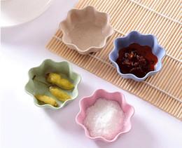Condimento Piatto Snack Piatto Aceto Salsa di soia Piattino Condimenti Contenitore Cucina Stoviglie Materiale in fibra di paglia di paglia da vassoi di imbarcazioni all'ingrosso fornitori