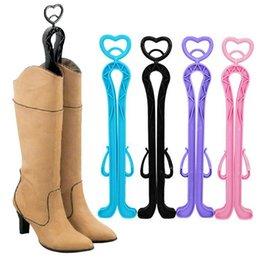 Wholesale Plastic Boot Shaper - 2016 New Arrival Plastic Candy Color Long Boots Shoes Tree Shaper Supporter Shaft Holder Organizer Storage Hanger