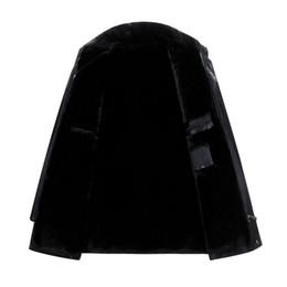 Wholesale Mens Thick Lined Winter Coat - 5XL Male Leather Jacket Mens Faux Fur Coats Winter Jacket Thicker Warm Outwear Overcoat Windbreak Woolen Cashmere Tops Plus Size