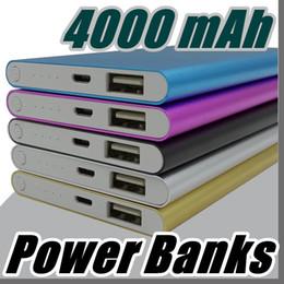 Wholesale Mobile External Power - 2017 Ultra thin slim powerbank 4000mAh Ultrathin power bank for mobile phone Tablet PC External battery F-YD