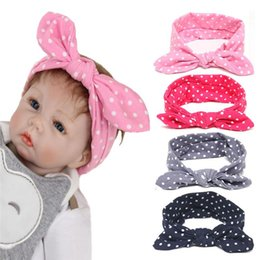 Baby Girls Polka Dot Bunny Ear Headbands Infant Kids Elastic Cotton Hairband  Children Soft Hair Accessories Hair Bands Free Shipping KHA492 b61dbf6b935