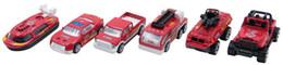 Argentina Super Cool 6 unids 1:64 Metal Diecast Cars Firefighting Trucks Police Ambulance Fire Military Trucks Car City Vehículo Vehículo de juguete para niños regalos Suministro
